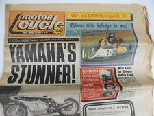 UK Motor Cycle Newspaper Oct. 1977 Side Car Yamaha Road Race Triumph Honda L1153