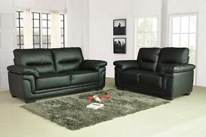 Image Is Loading Kansas Leather Sofas 3 2 1 Seater Sofa