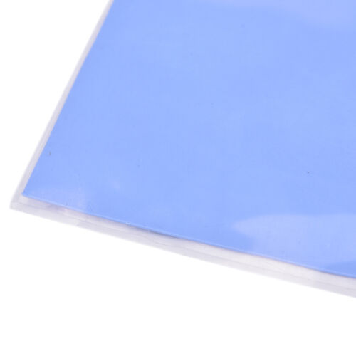 Blue GPU CPU Heatsink Cooling Thermal Conductive Silicone Pad 100x100x0.5mm RI