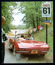 Prospekt brochure 1961 Chevrolet Chevy Corvette Reprint (USA)