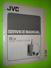 JVC cq-1k service manual original repair book stereo cassette player walkman