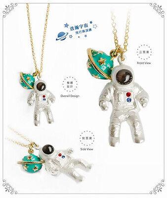 1pc Fashion Chic 3D Stereoscopic Universe Astronaut Club Women Necklace Choker