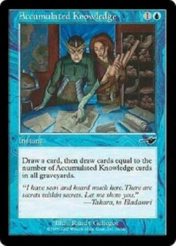 4x Accumulated Knowledge PL MTG Nemesis NE Magic