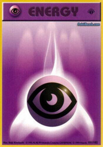 1x Psychic Energy Common Base Set 101//102 1st Edition NM-Mint Pokemon G1