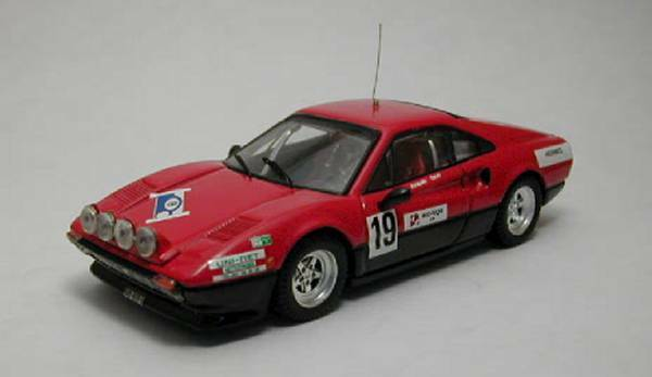 Ferrari 308 Gtb  19 Rally St. Cergue 1982 C. Jaquillard 1:43 Model BEST MODELS