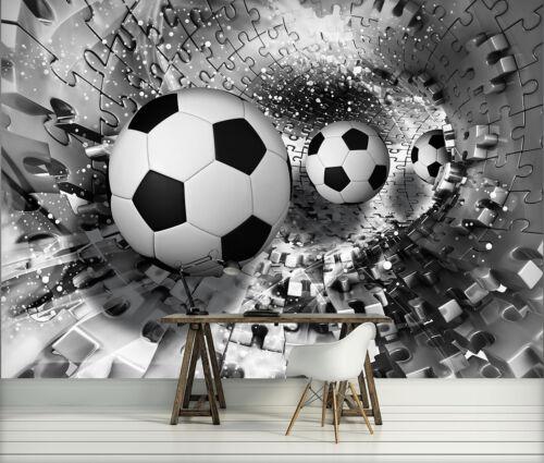 Fototapete Poster Foto Tapeten Tapete SPORT BALL 3D SCHWARZ PUZZLE 3FX3382P8
