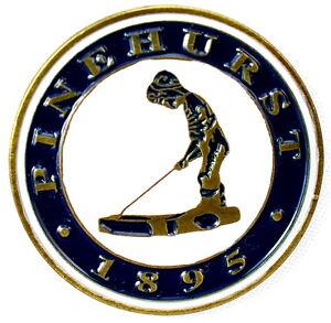 PINEHURST-No-2-Logo-FLAT-Golf-BALL-MARKER-Blue