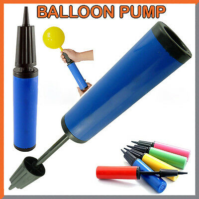 MINI Hand Held Dual Double Action Hand Balloon Air Pump Birthday Party Wedding