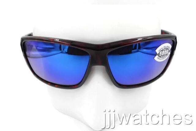 8797ee537cd24 New Costa Del Mar Cat Cay Tortoise Blue 580G Polarized Sunglasses AT 10  OBMGLP