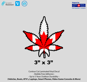 3-034-x-3-034-Canadian-Weed-Marijuana-Cannabis-Pot-Leaf-Laminated-Vinyl-Decal