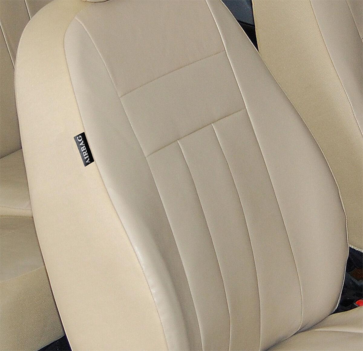 Mercedes W203 Maßgefertigte Kunstleder Sitzbezüge in Beige