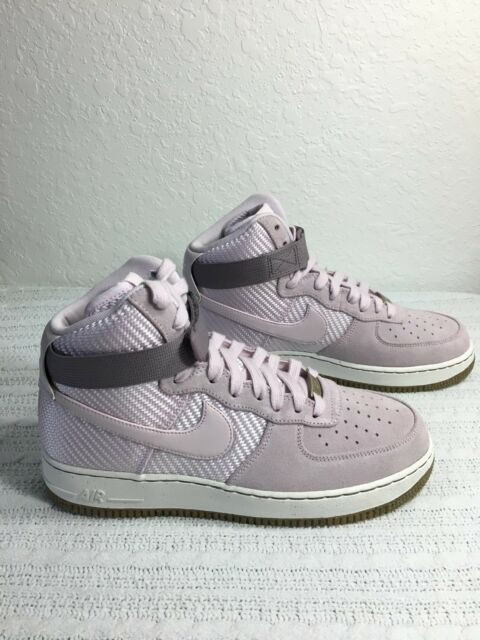 e066541805bf Nike Women s Air Force 1 Hi PRM Shoes Size 10 Bleached Lilac 654440 ...