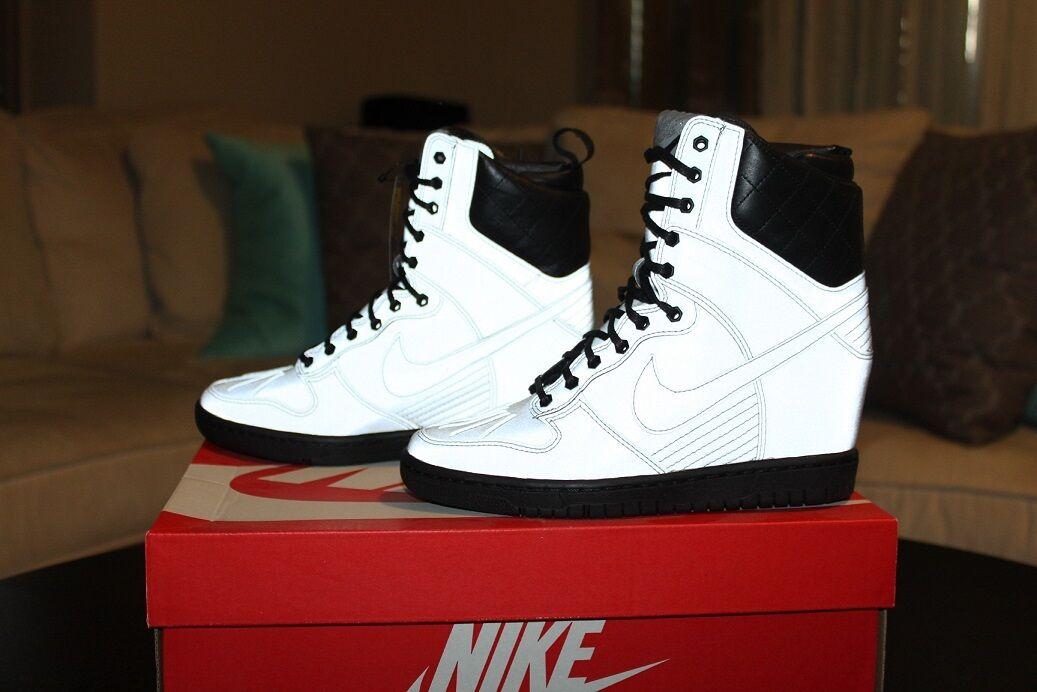 NIKE Dunk Sky Hi Wedge Silver Reflective Boots shoes 5.5 BNIB