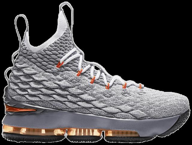 Nike Lebron XV 15 GS Grey Safety Orange