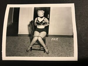 4 X 5 ORIGINAL NEGATIVE PHOTO FROM IRVING KLAW ARCHIVES Tied Up Series # PA 18