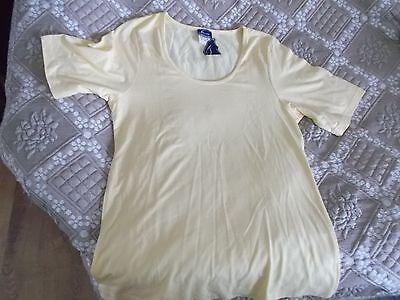 Ausdrucksvoll Damen T Shirt Neu Gelb Gr. 38 Fischer Collection