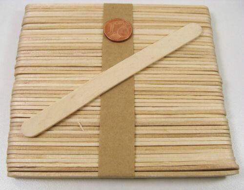 48 Bâtons bois Bâtonnets esquimau 11x0,9cm pour collage maquette loisirs DIY