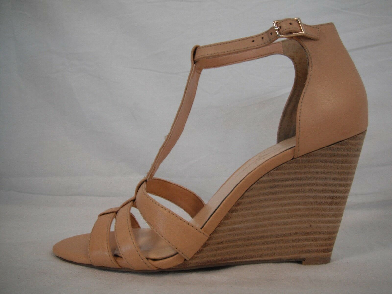 Jessica Simpson 10 M McCorde Nude Leather Open Toe Toe Toe Wedges New femmes chaussures NWOB 44e070