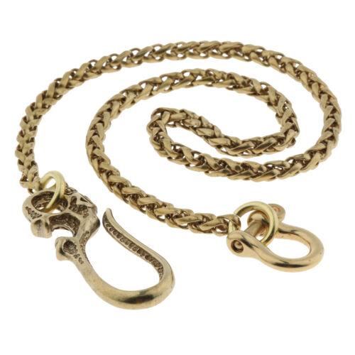 """Mens Biker Trucker Heavy Skull Long Metal Keychain Key Jean Wallet Chain 21/"""""""
