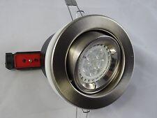 Fire Rated Brushed down light Chrome FOR GU10 LED Bulb,  Tilt DownlightsJCC
