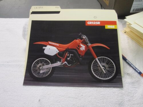 NOS Honda 1988 CR125R DEALER SALES BROCHURE
