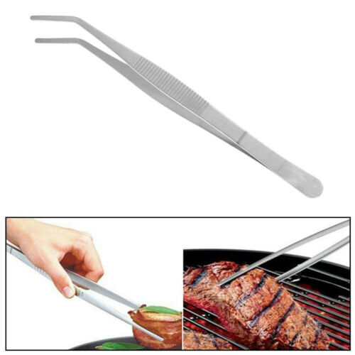 Plating Chef Kitchen Tool BBQ Clip Barbecue Tongs Food Tweezer Stainless Steel