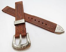 "AMERICAN STRAP,16mm,XLong,40's,""Western Cowboy"" US MADE,MEN'S WATCH BAND,B16-54"