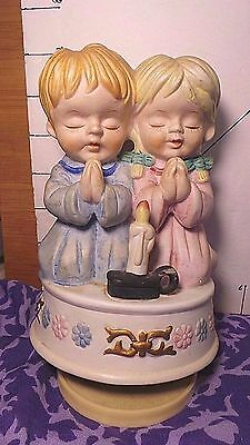 """Music Box, Praying Children, Price Products, """"Brahm's Lullaby"""", Plays Well"""