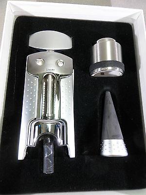 3teiliges Zippo Set Regalo - Korkenziher + Chiusura - Nuovo E Confezione