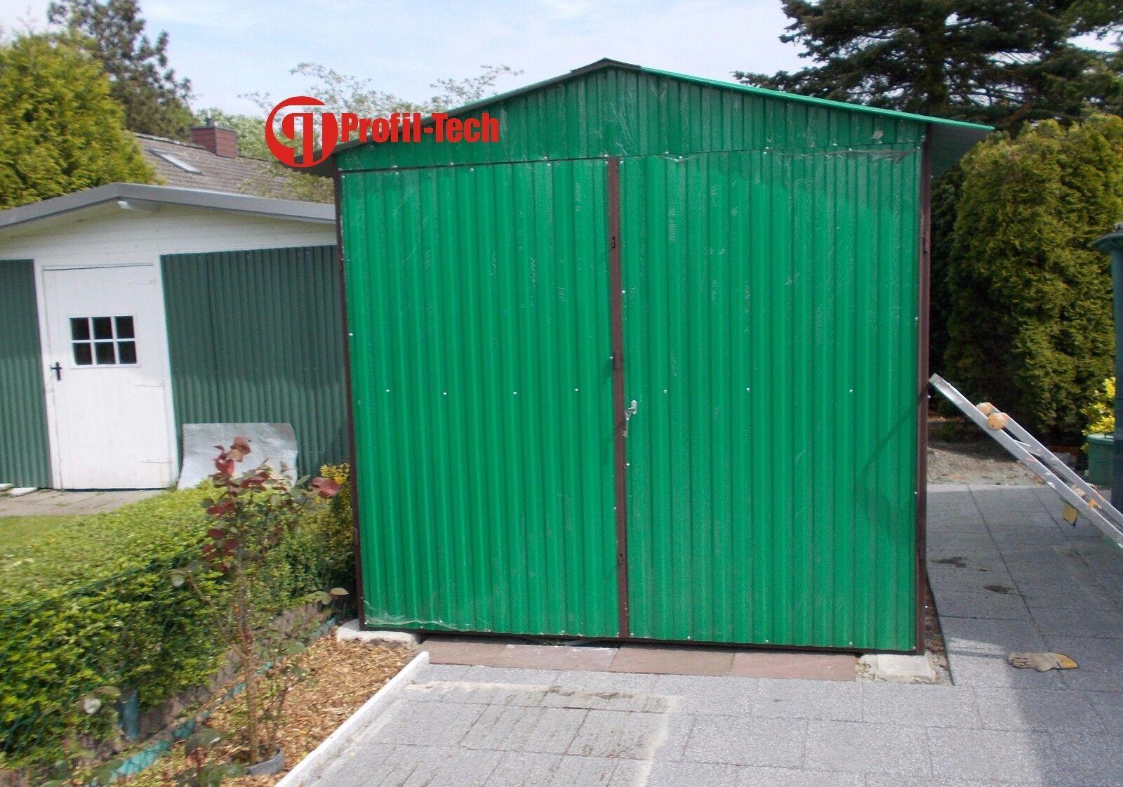 2,5 x 4,5 Blechgarage Fertiggarage Metallgarage LAGERRAUM GERÄTESCHUPPEN garage