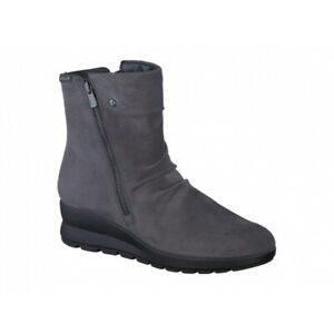 Mephisto-PHILA-Ladies-Womens-Smooth-Genuine-Leather-Zip-Up-Ankle-Boots-Grey