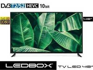 "TELESYSTEM TV LED 40"" LEDBOX DVB T2/S2 FULL HD HDR HDMI USB VGA CLASSE A+ HEVC"