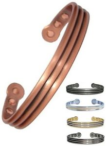 Mens or Womens Magnetic Therapy Bracelet Roman Magnet Pain Relief Copper Bangle