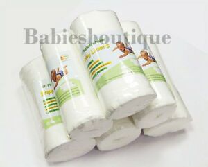 Roll-of-100-Soft-Disposable-flushable-BAMBOO-Baby-Nappy-Liners-for-Cloth-Nappy