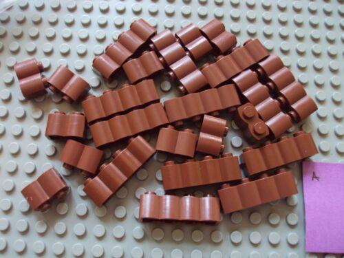 Lego ~ Mixed Lot Of Redish Brown Log Bricks Western House Indian Ninja #rnfbg