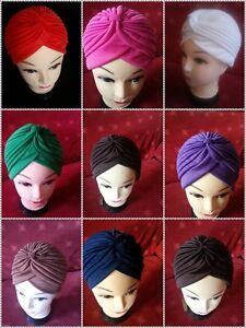 Turbante-Estilo-jefe-envoltura-Sombrero-Bandana-Bufanda-perdida-de-cabello-Indio-Vintage