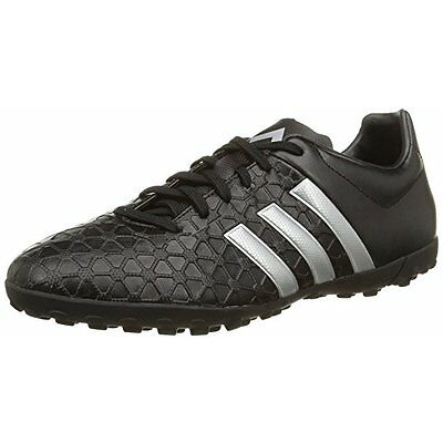 Adidas Ace 15.4 TF Junior Boys Black Astro Football Trainers Soccer Sports Shoes