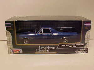 1970 Chevy El Camino SS 396 Pickup Die-cast Car 1:24 Motormax 8 inches Blue