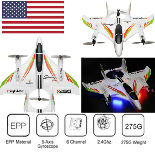 WLtoys XK X450 RC Glider Fixed Wing Aircraft  Brushless 2.4G 6CH 3D6G RTF S6O6