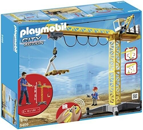 Playmobil 5466 City Action Large Construction Crane with Infra-rot Remote Contro