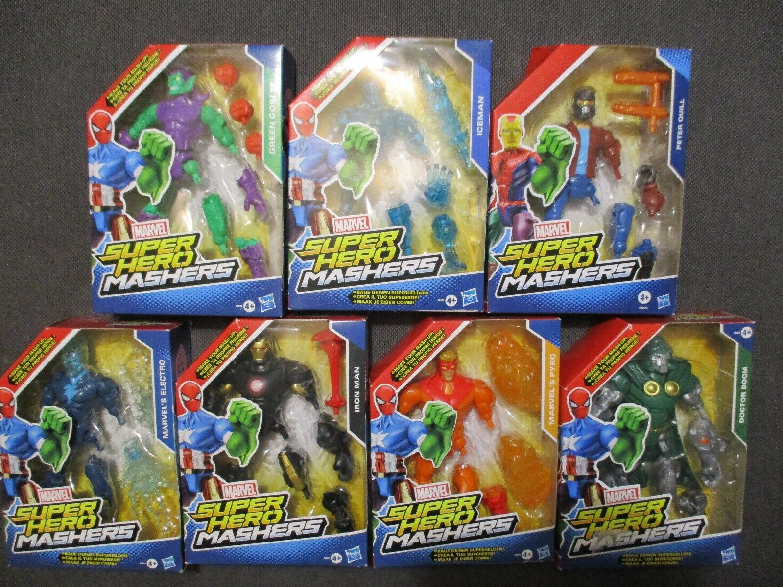 Lot 7 FIGURINES MARVEL SUPER HEROS / HERO MASHERS - HASBRO IRON MAN DR DOOM NEW