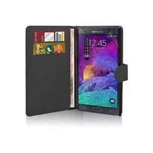 Housse-Etui-Coque-Pochette-Portefeuille-Noir-pour-Samsung-Galaxy-Note-4