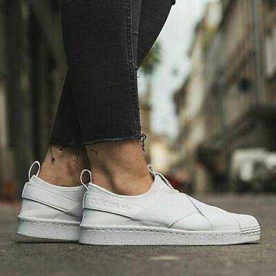 Adidas ORIGINALS SUPERSTAR SLIP ON SAMBA SHOES TRAINERS Women's Sneakers S81338 | eBay