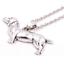 Perro-Salchicha-Dachshund-Collar-Colgante-Regalo-Amante-De-Perros-Color-Plata-Daxie miniatura 1
