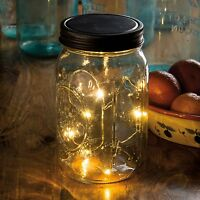 Mason Jar Lid Lights, Wide Mouth Lid, 3.5 Dia, 4-hr Timer, Primitives By Kathy