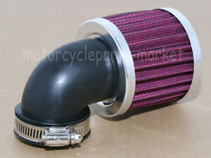 For Motorcycle Bobber Chopper Cruiser Scooter Air Cleaner Intake Filter 45-48 mm