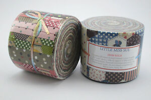 Little-Miss-Sue-20-Hand-Rolled-Jelly-Roll-Strips-Fabric-Rolls-2-5-034-x-42-034