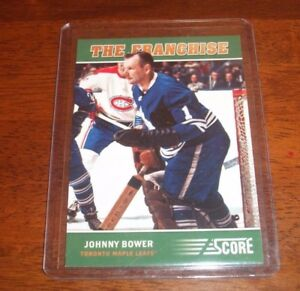 JOHNNY-BOWER-SIGNED-AUTOGRAPHED-2012-13-SCORE-THE-FRANCHISE-3-CARD-MAPLE-LEAFS