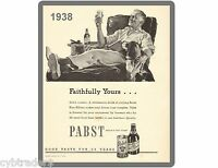 1938 Pabst Beer Ad Refrigerator / Tool Box Magnet Man Cave Gift Card Insert