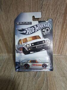 Hot-Wheels-63146-Zamac-1967-Ford-Mustang-GT-034-50th-aniversario-034-2017-mocard